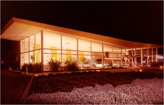Gasser Motors dealership, 1954, Napa, California