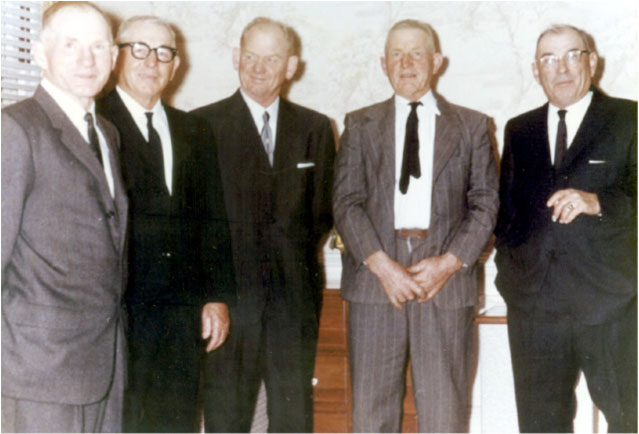 The Gasser brothers: Frank, Henry, Peter, Lou, and Al.