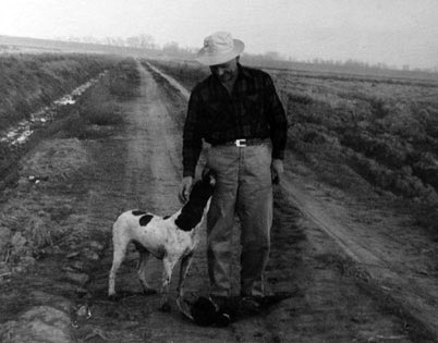Peter Gasser with his dog.