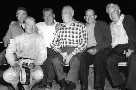 Peter with several Napa friends (left to right): Julius Ciaocca, a Napa County Supervisor; Peter; Ray Cavignaro, owner of El Ray Distributing; Ed Brovelli of Basalt Rock Co.; Henry Cleone, a Napa banker; and Joe Dillon, President of Napa Savings & Loan.